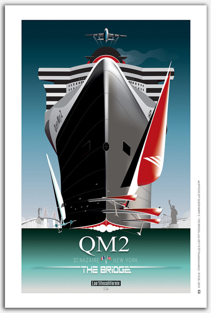 « Affiche QUEEN MARY 2 – TRANSAT THE BRIDGE »