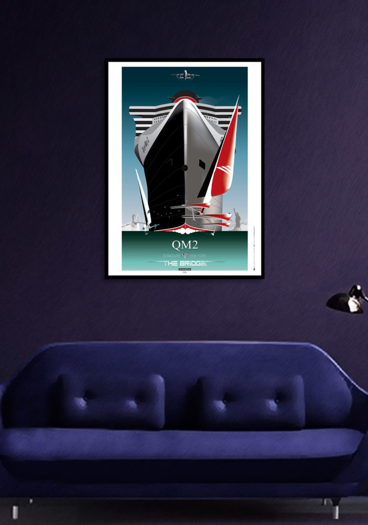 AFFICHE QUEEN MARY 2 – THE BRIDGE OFF