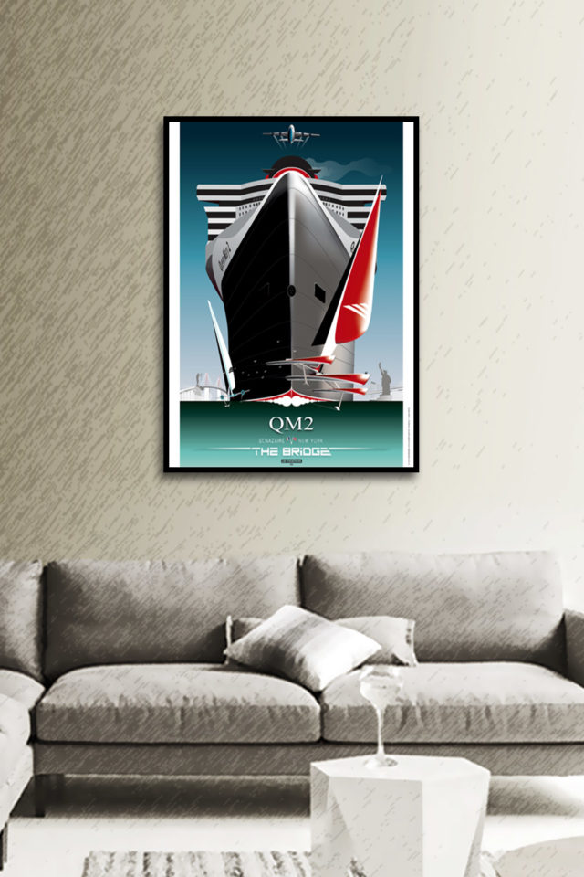 Affiche QM2 THE BRIDGE – L'ACCOMPLISSEMENT VIII