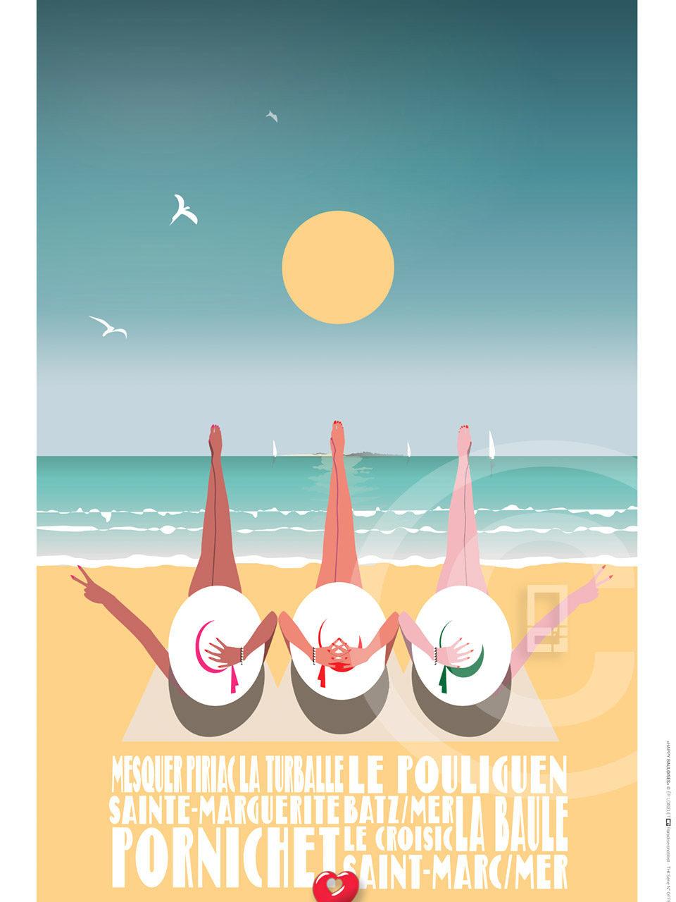 Digital Symbolic Design Affiche La Baule