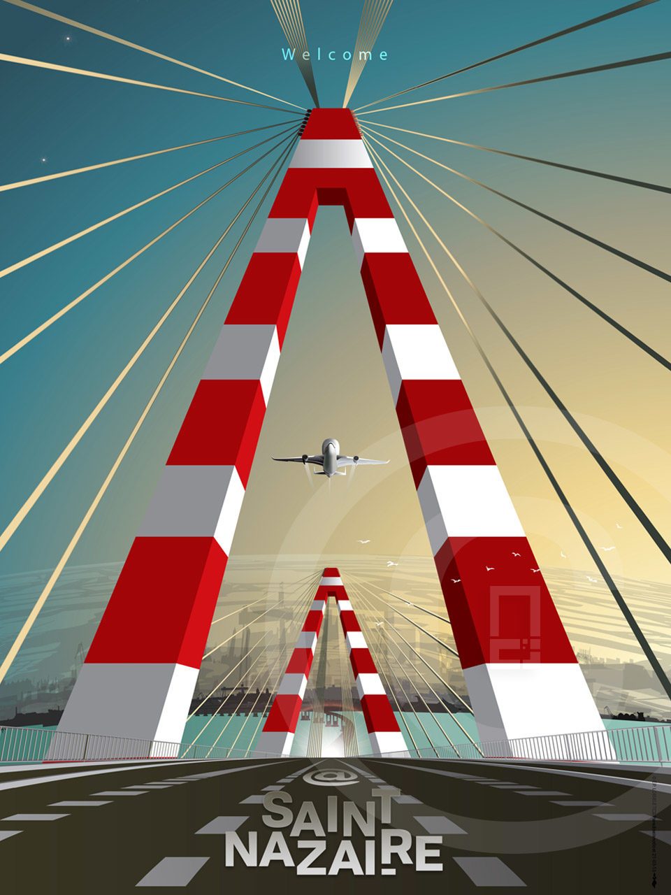 Affiche Pont de Saint-Nazaire édition 21-03-13
