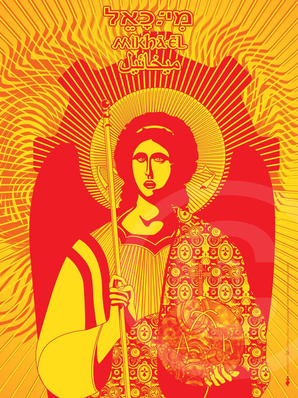 Icônographie digitale de Saint-Michel Archange Variation AR SEIZ BREUR 2019