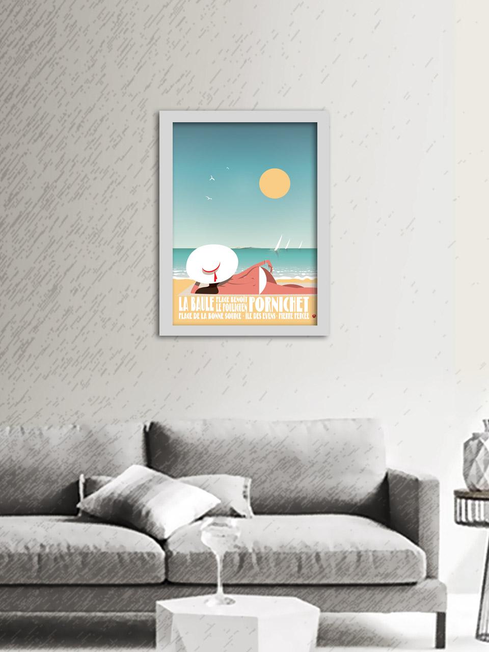 Affiche Bauloisement Baie de La baule Pornichet Le Pouliguen