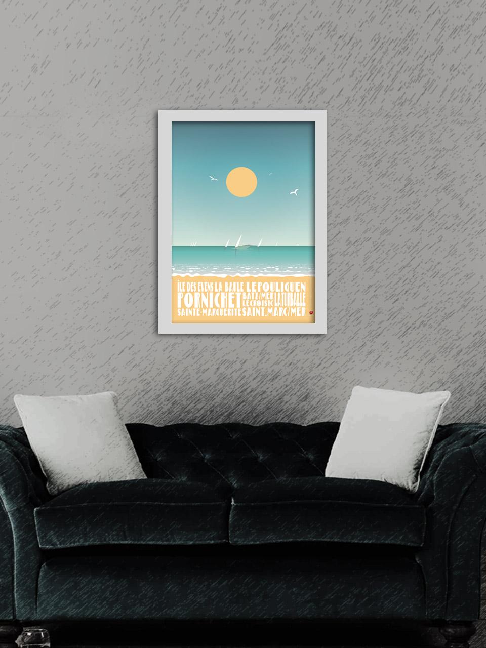 Affiche Île des Evens - Baie de La Baule