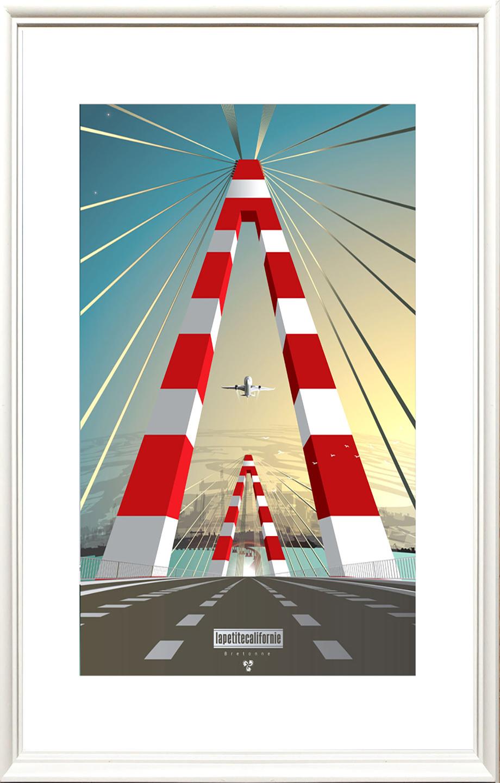 Affiche Pont de Saint Nazaire Belouga XL