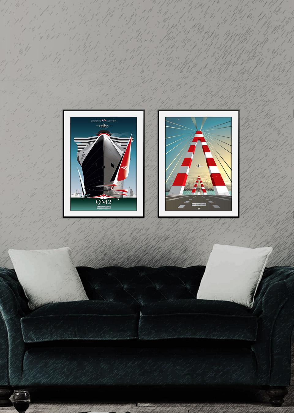 Diptyque affiches Saint-Nazaire