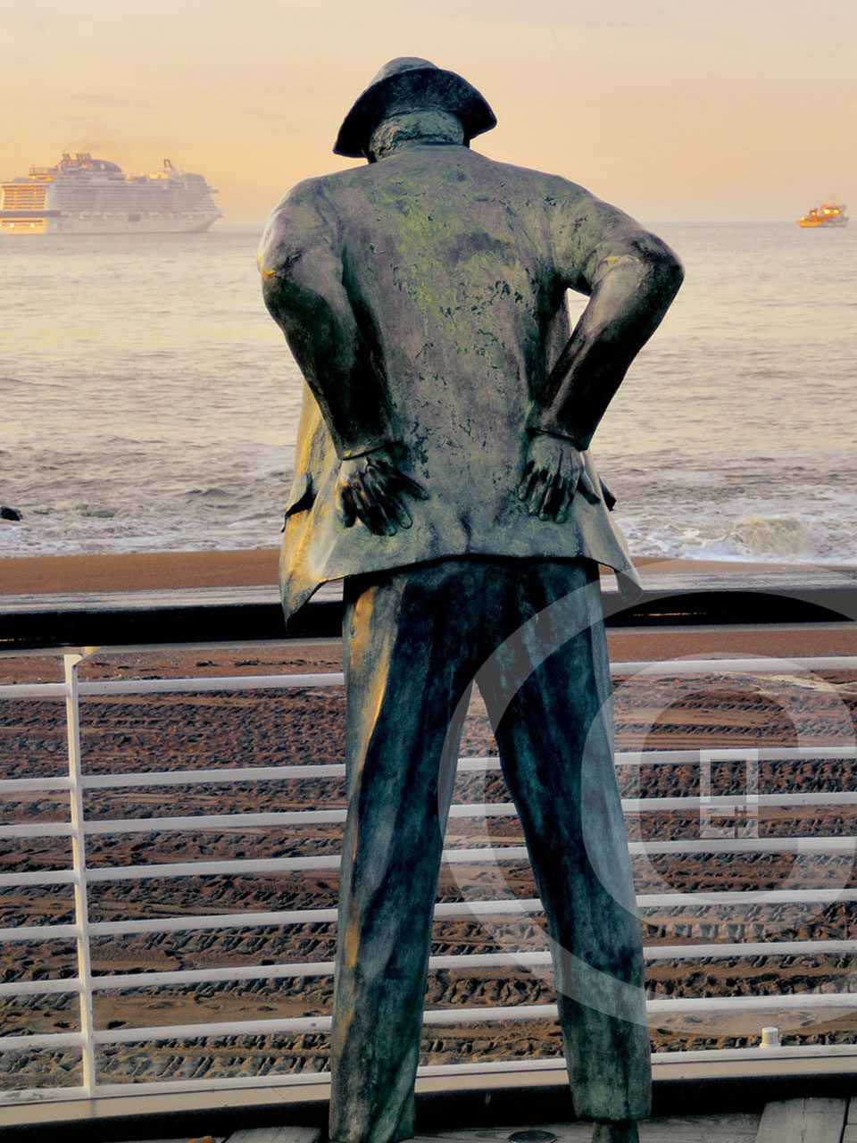 Affiche Monsieur Hulot au départ du Meraviglia