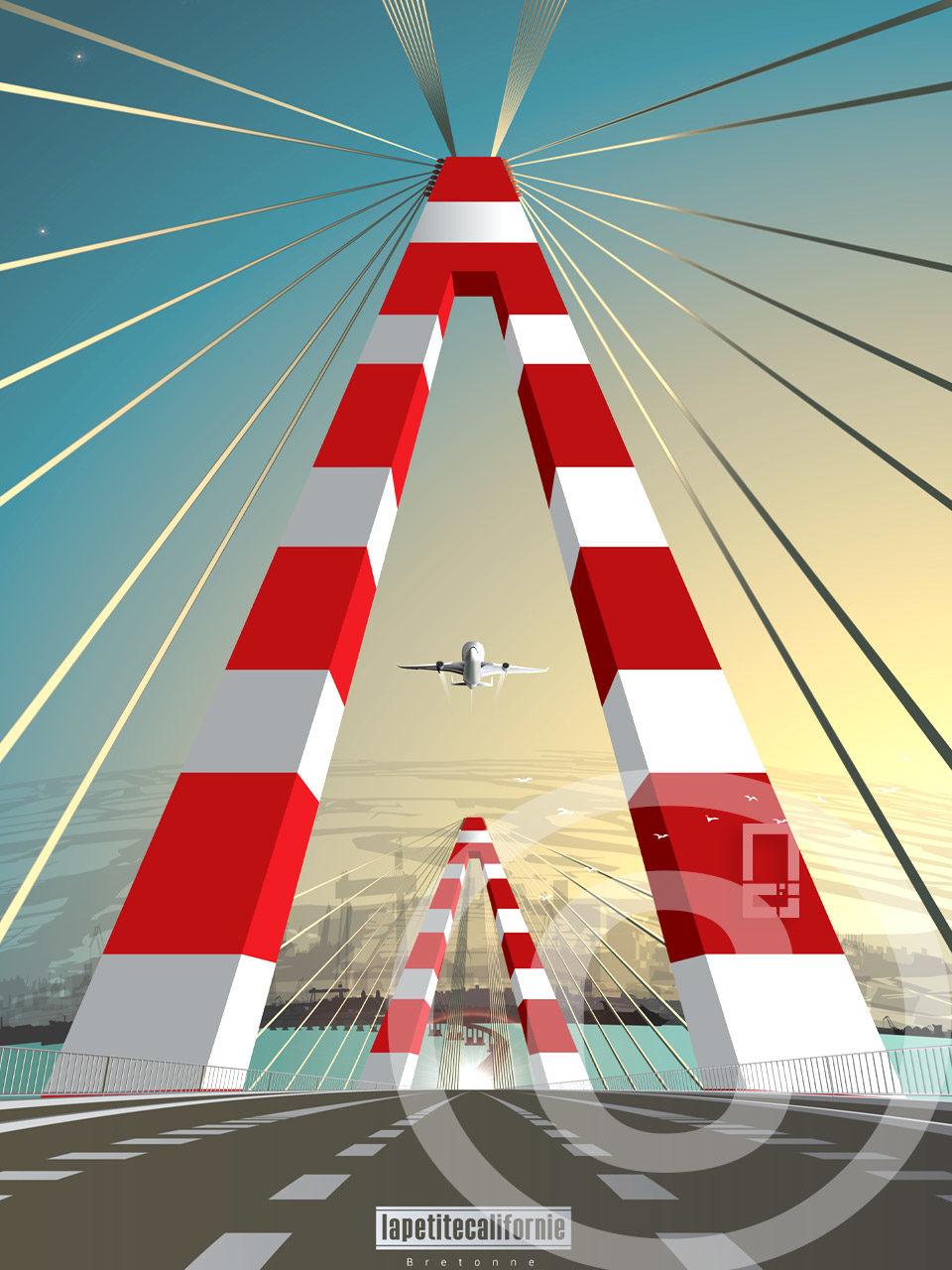 Affiche pont de Saint-Nazaire Airbus
