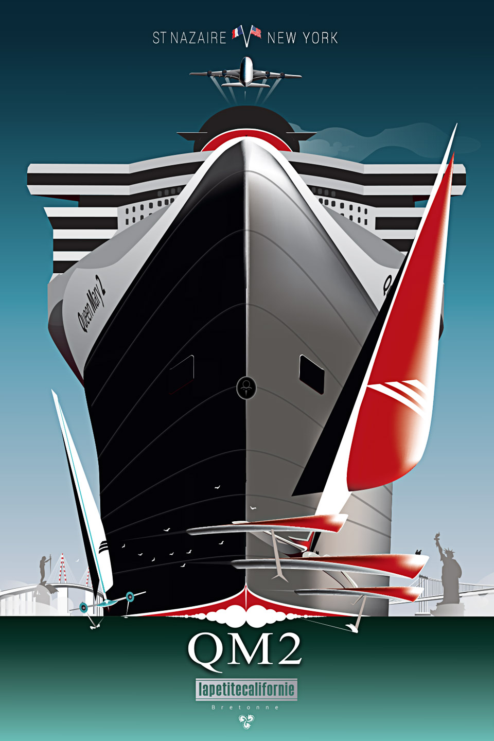Affiche Queen Mary 2