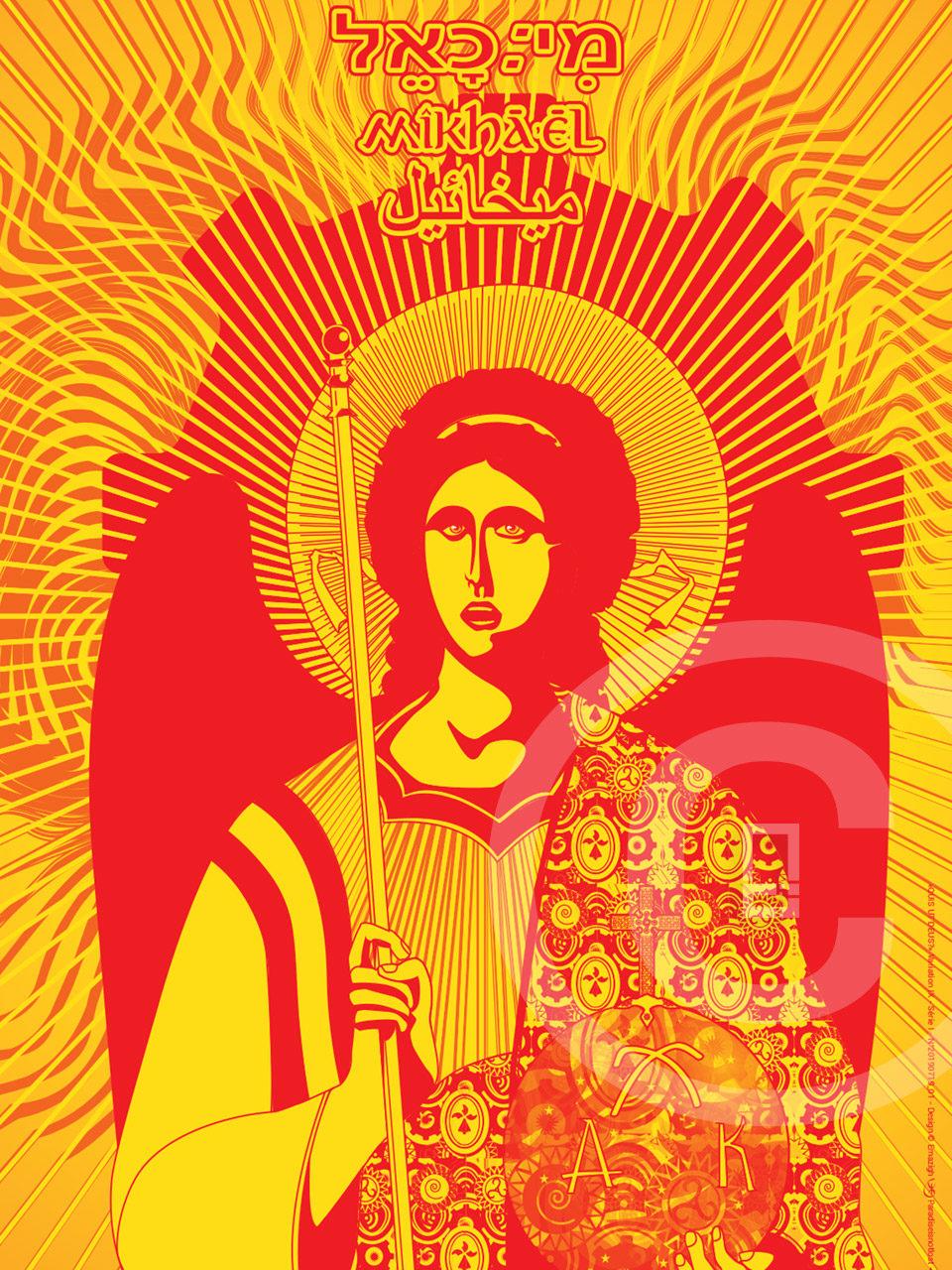 Icône digitale Saint-Michel Archange Ar Seiz Breur
