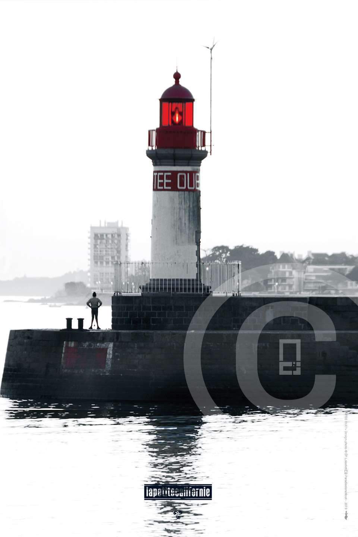 Affiche port de Saint-Nazaire phare bassin sud