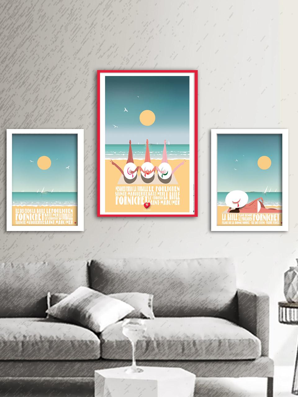 Triptyque affiches La Baule Promo