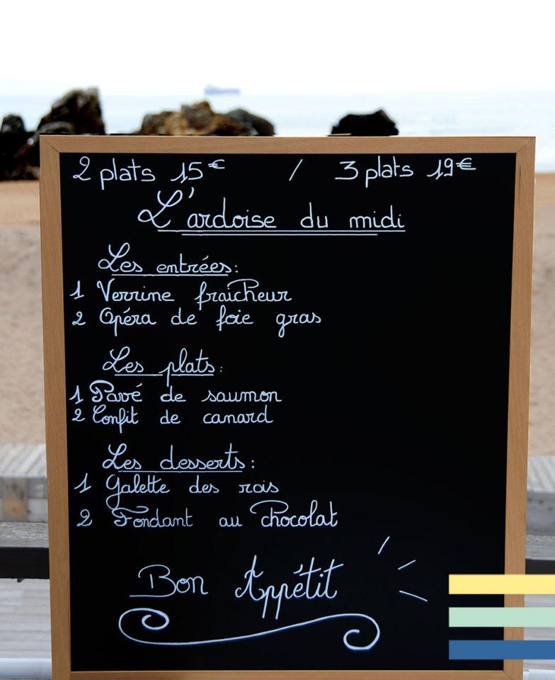Formules Bistrot restaurant La Plage de Monsieur Hulot