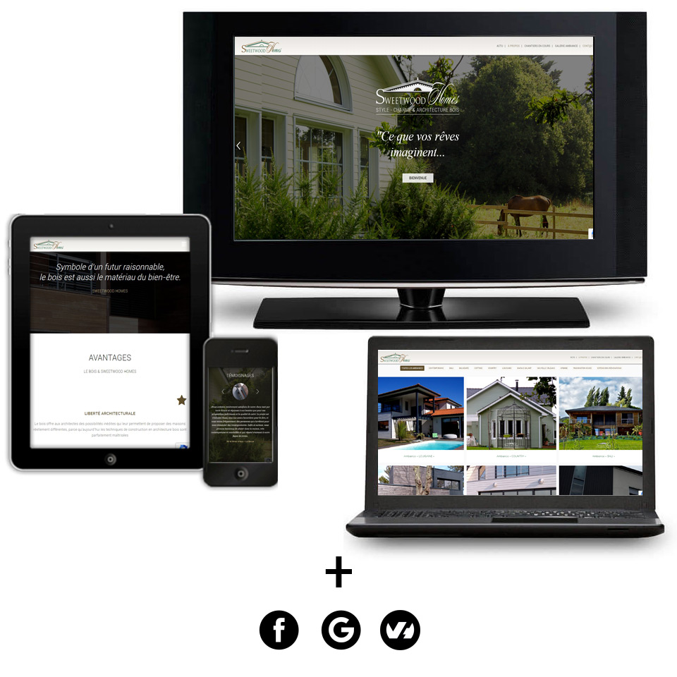 Plateforme Internet 100% CMS Sweetwood Homes