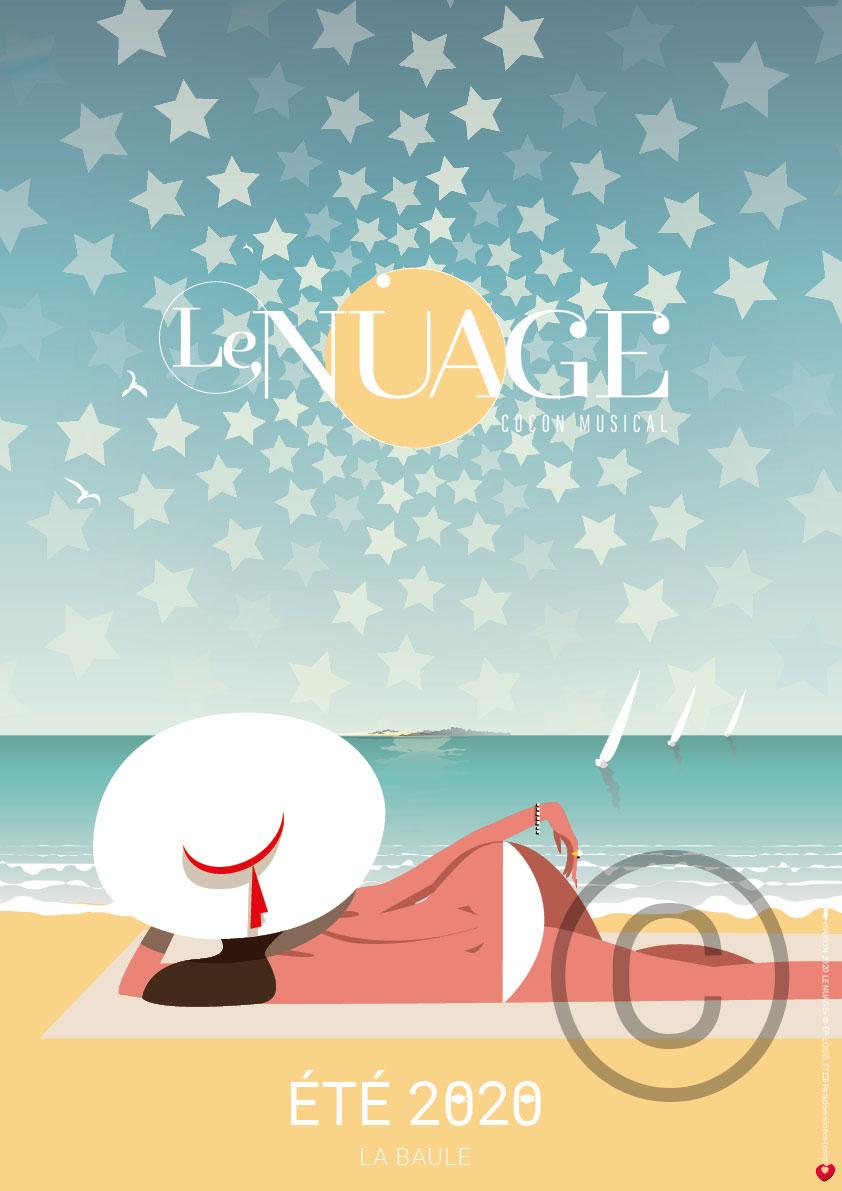 Affiche collector saison 2020 LE NUAGE La Baule