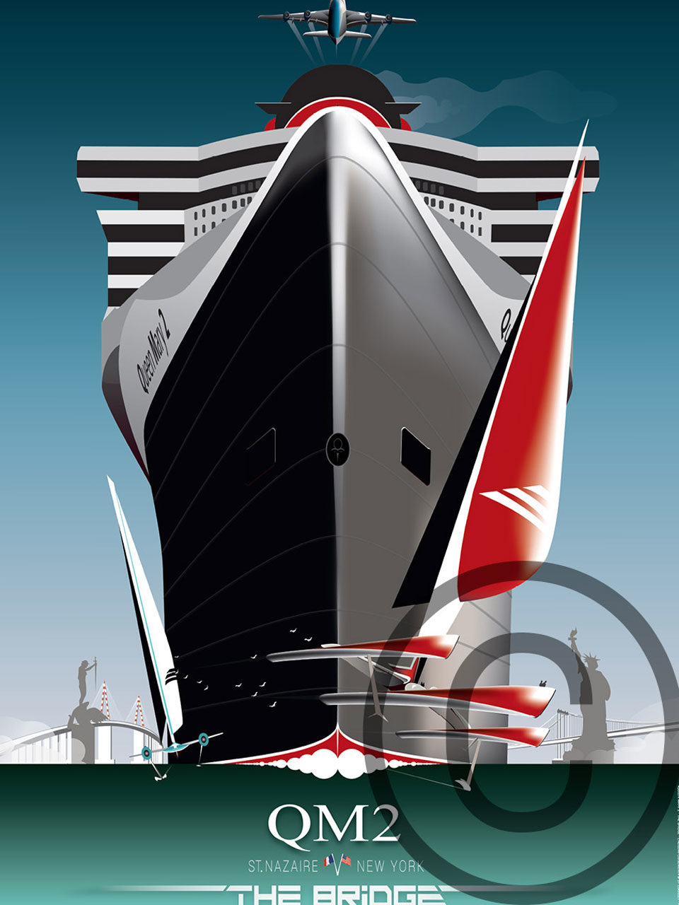 Affiche Queen Mary 2 saint-Nazaire