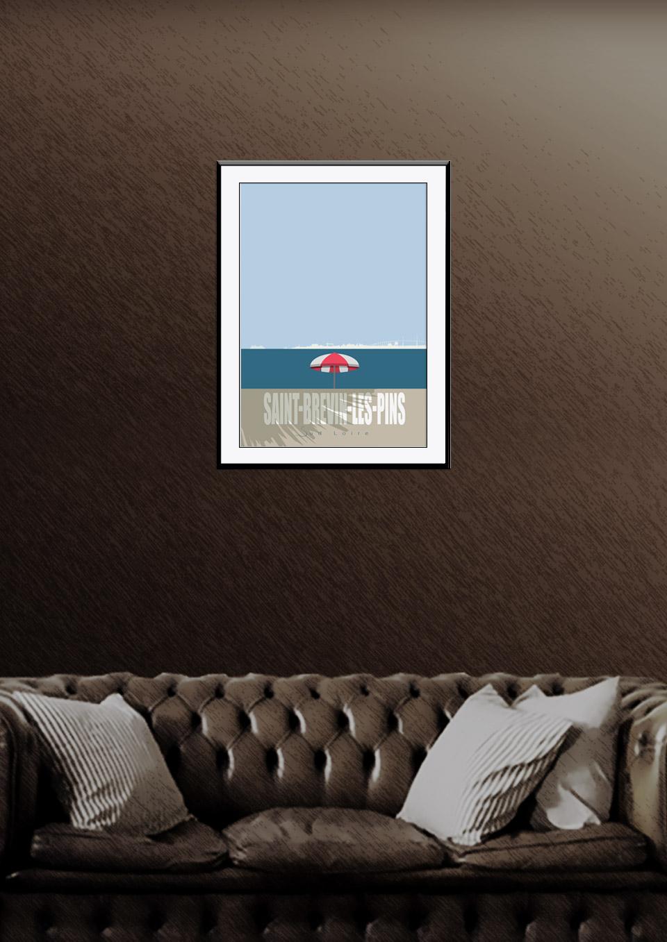 Affiche Saint-Brevin-Les-Pins Collection PETITE CALIFORNIE BRETONNE