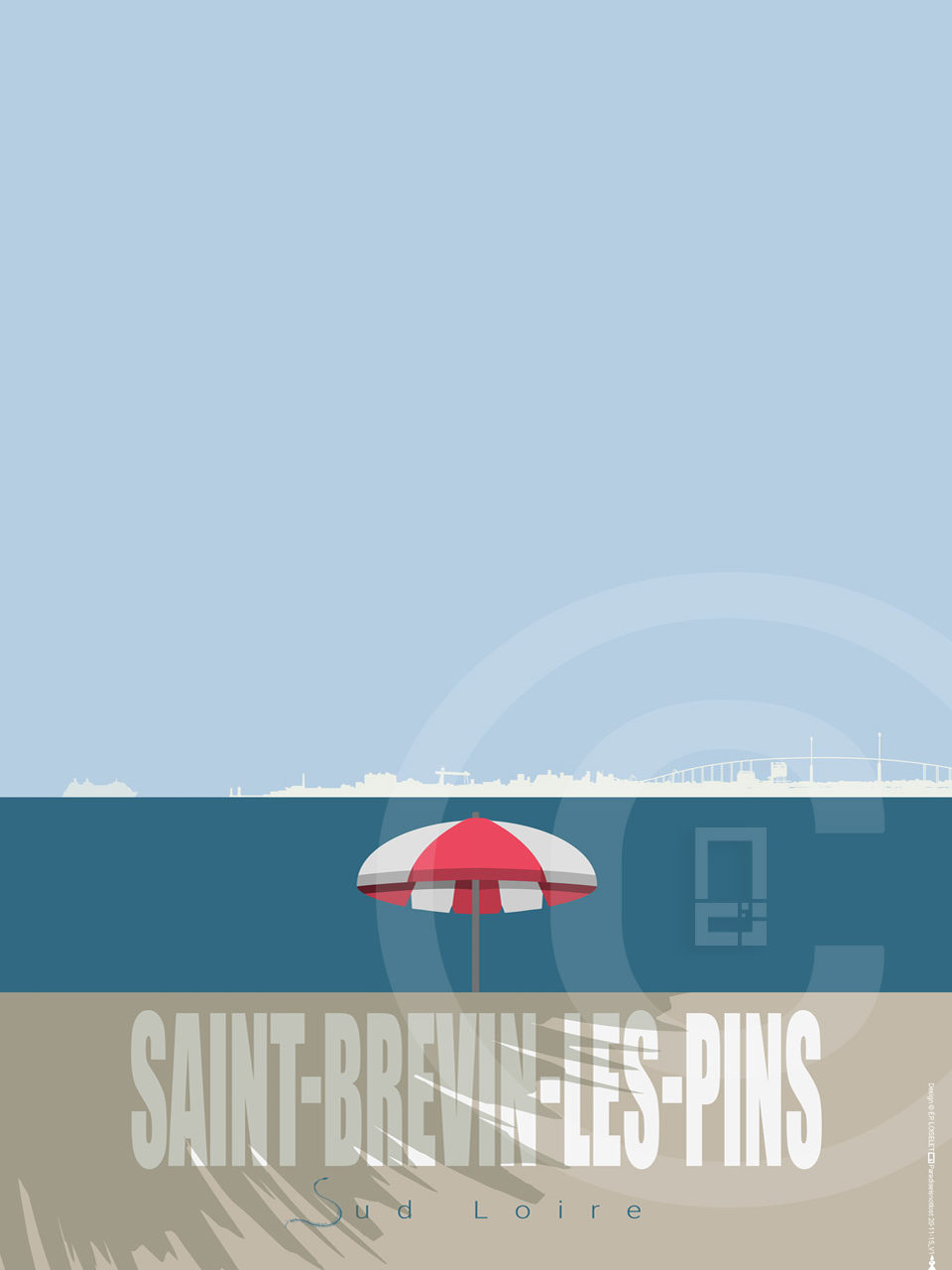 Affiche Saint-Brevin-Les-Pins Collection PETITE CALIFORNIE BRETONNE 2020