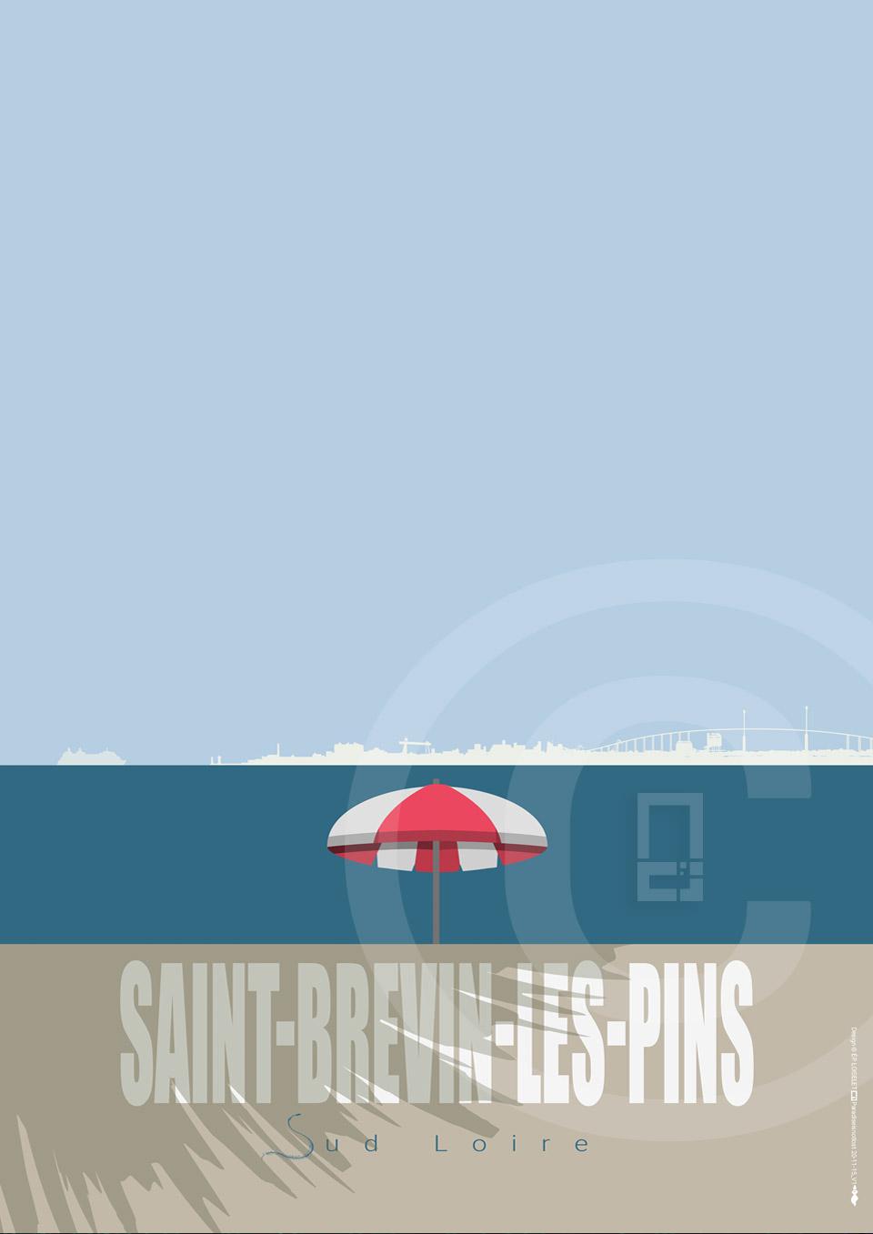 Affiche Saint-Brevin-Les-Pins Collection PETITE CALIFORNIE BRETONNE 2020