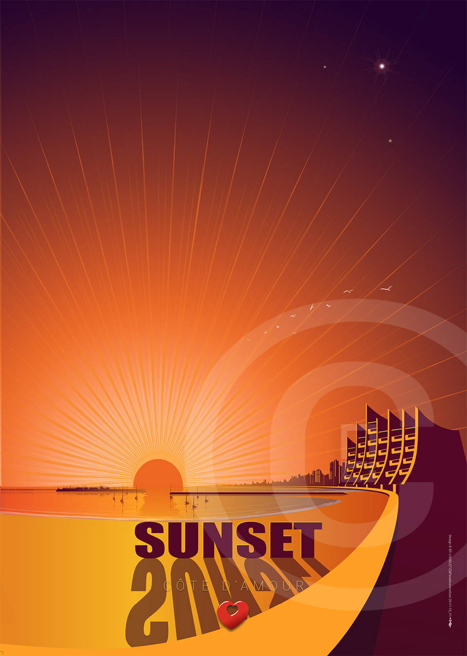 Affiche SUNSET Pornichet 2020