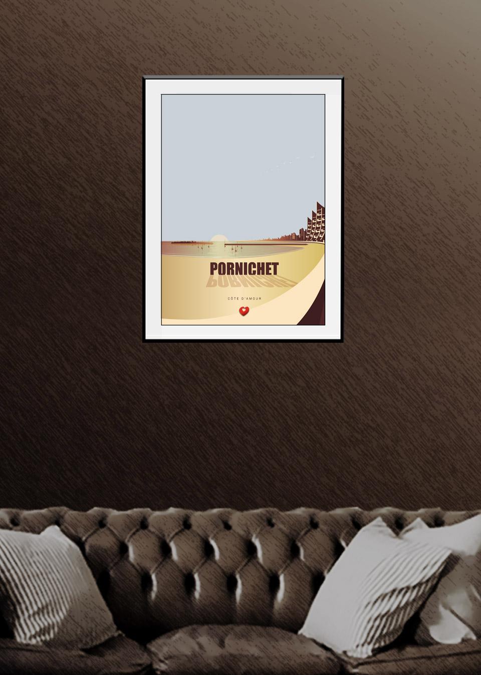 Affiche Pornichet sunset