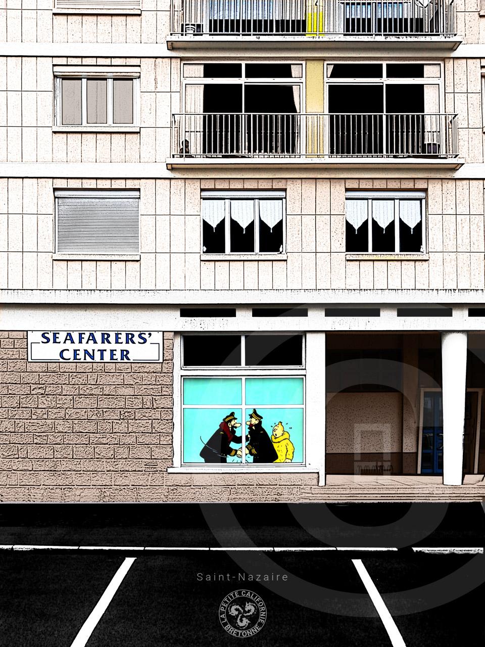 Affiche seafarer's center Saint-Nazaire