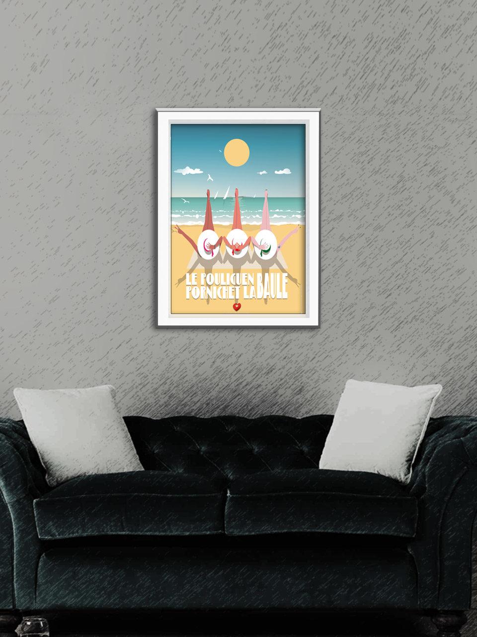 Affiche Happy Bauloises - Édition 2021 Collection Côte d'Amour