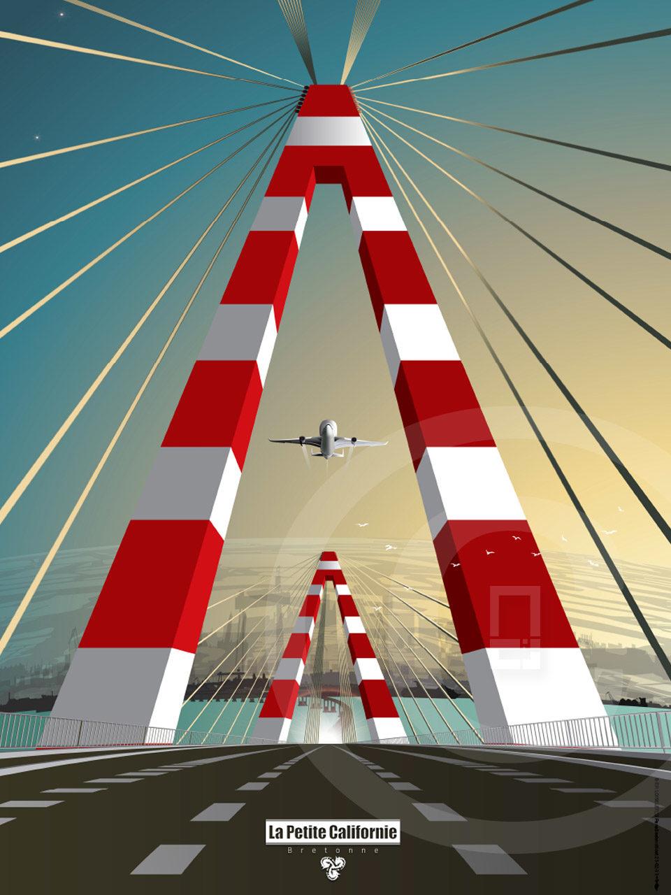 Affiche Pont de Saint-Nazaire