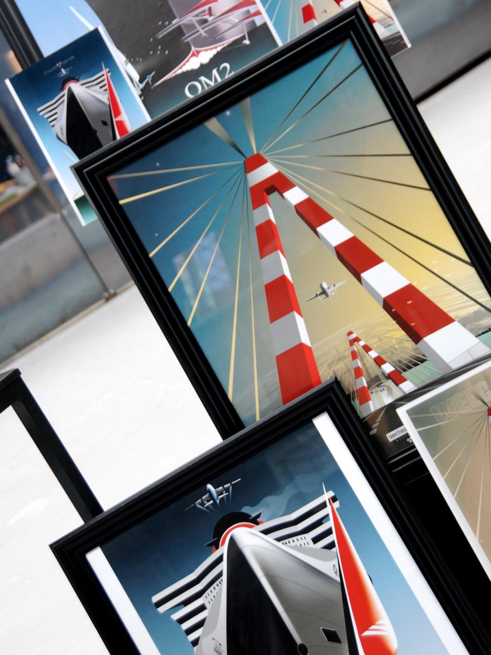 Affiche encadrée Queen Mary 2 Paquebots Saint-Nazaire The Bridge