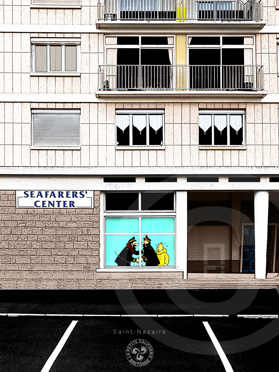 Affiche Seafarer's center - Saint-Nazaire
