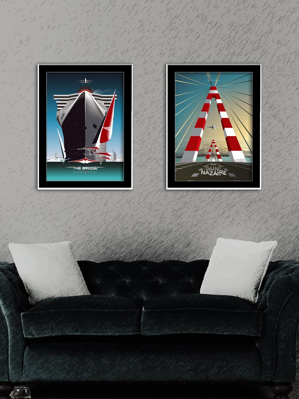 Diptyque affiches Saint-Nazaire THE BRIDGE & LE PONT