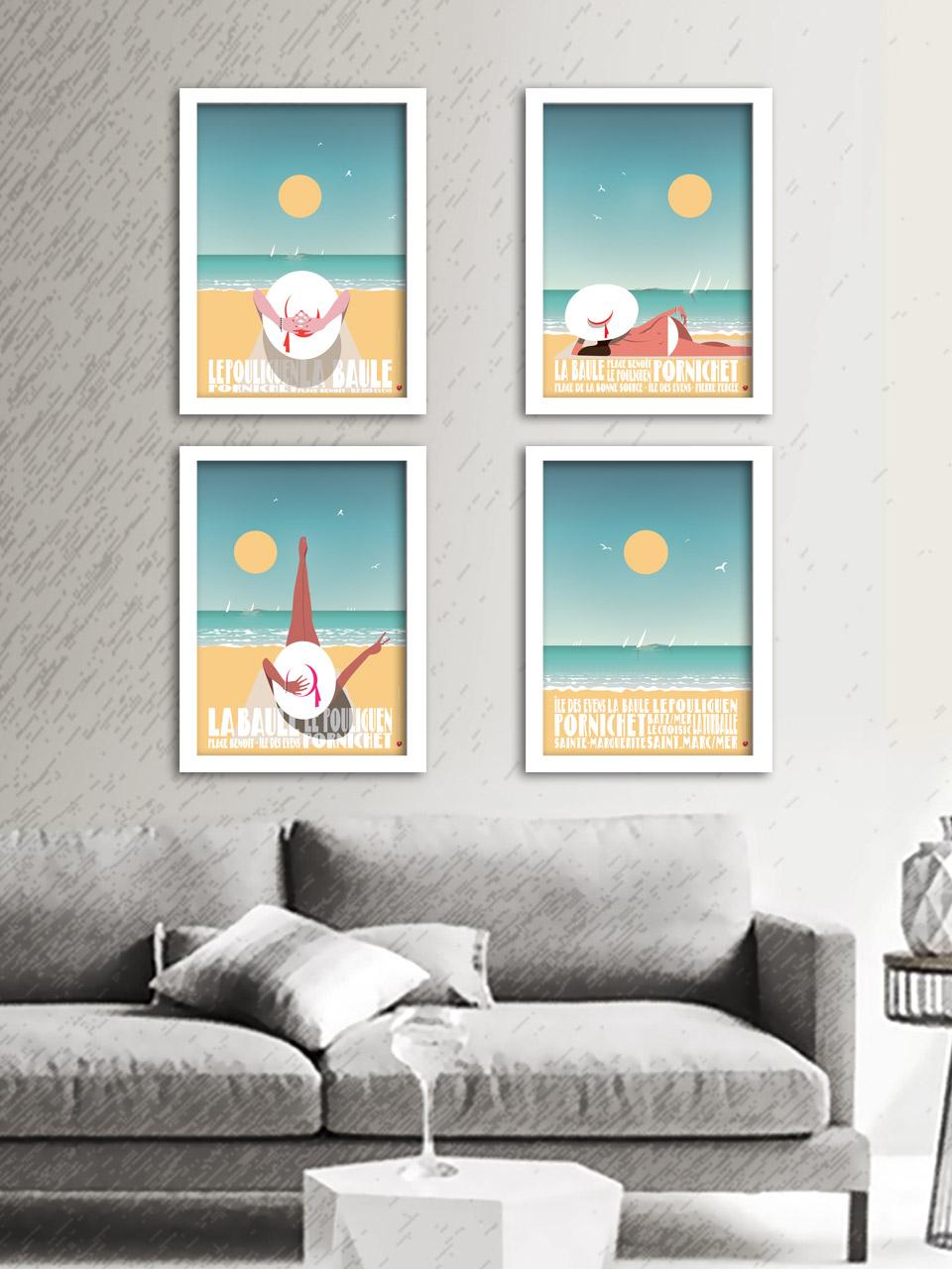 Polyptyque composé de 4 affiches 29.7x42cm. Impression offset sur papier couché mat 170g.