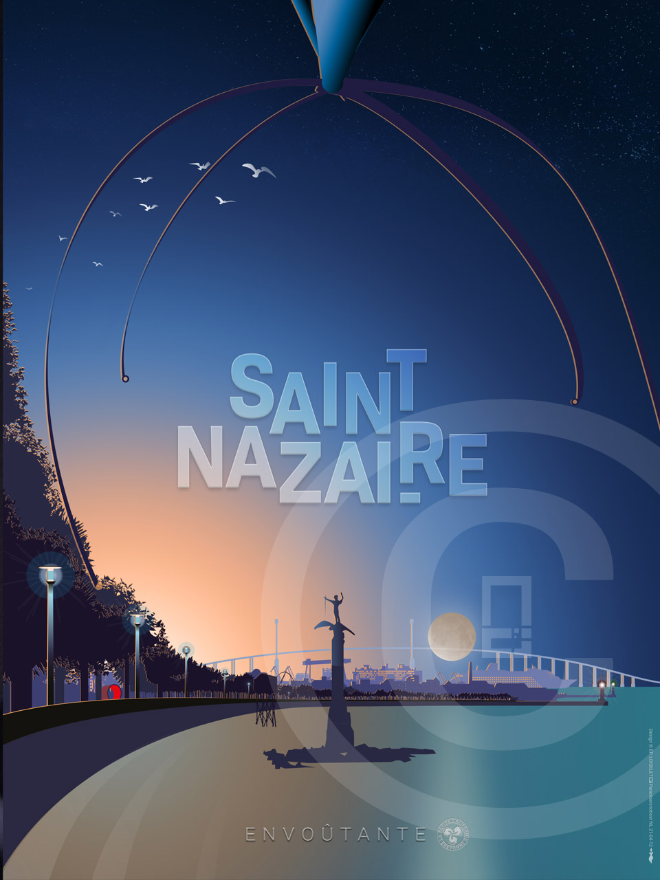 Affiche Saint-Nazaire Envoûtante 2021
