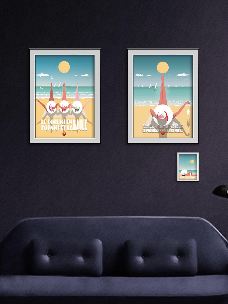 Offre affiches x2 Happy Bauloises - Édition 2021 Collection Côte d'Amour 2021