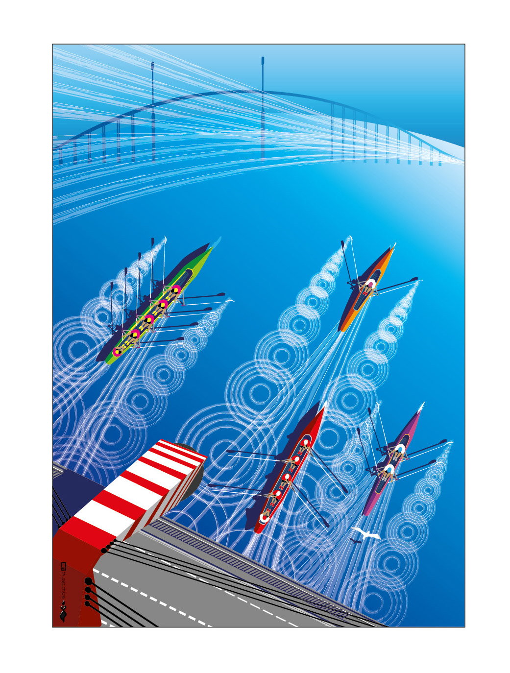 Affiche championnat de France d'aviron de mer 2020