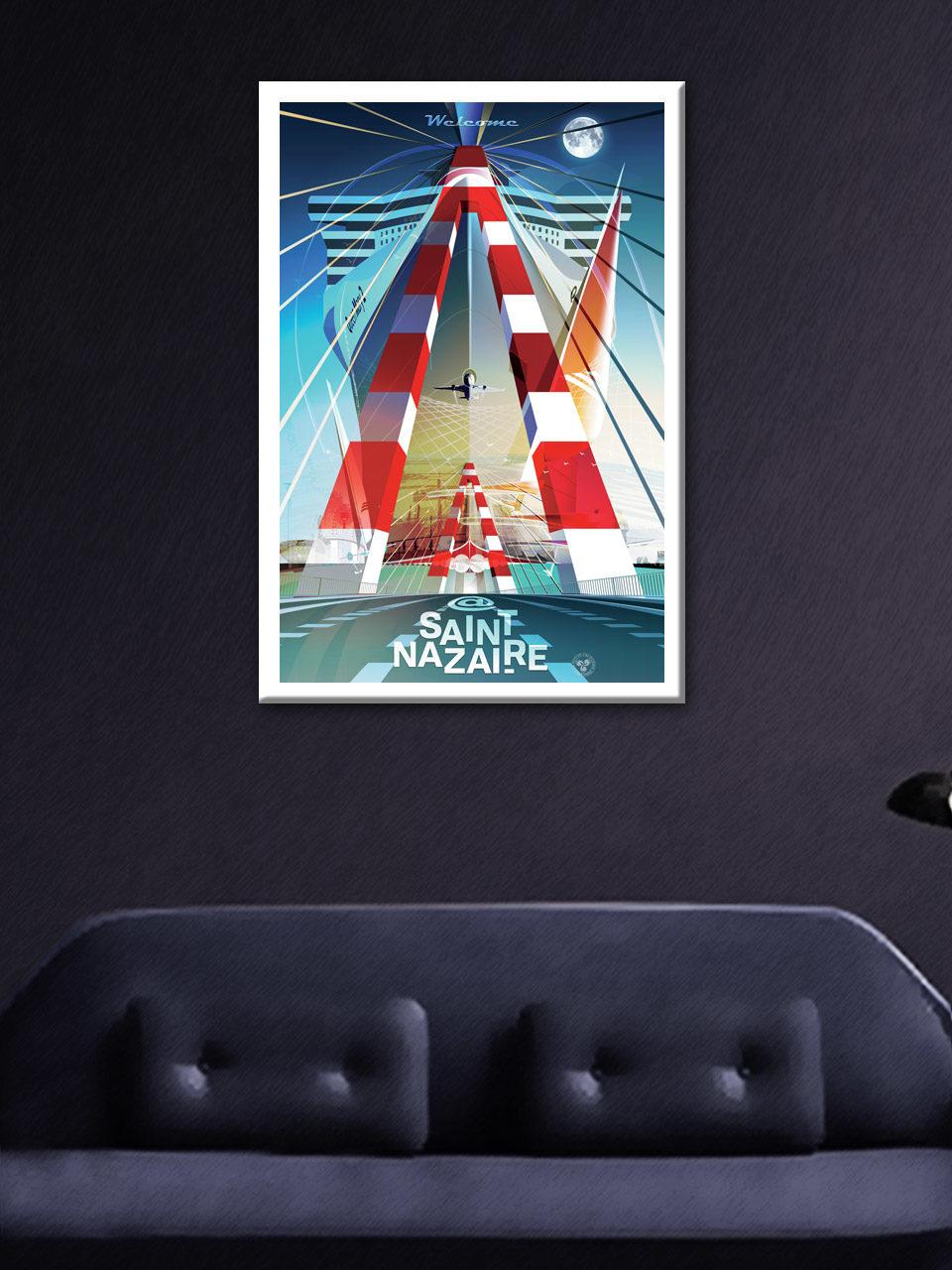 Affiche Saint-Nazaire Fusion N°2 - 50x70cm en édition limitée 2021